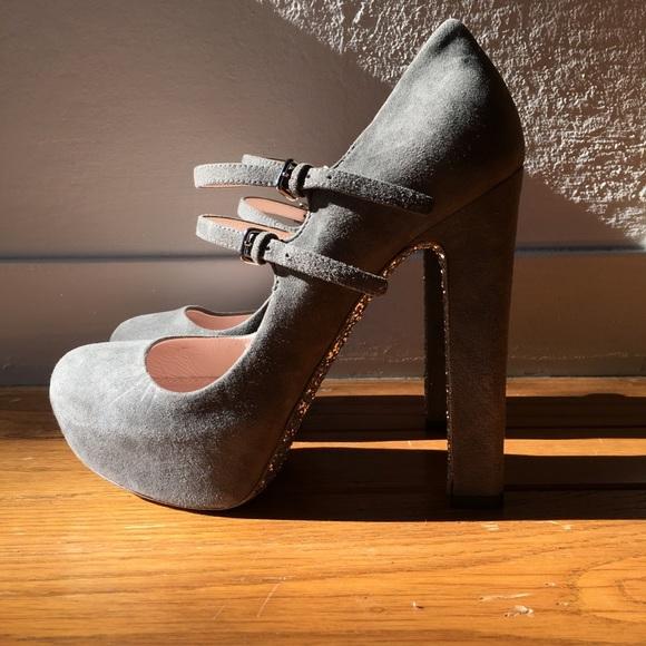 a08fd76f26 Miu Miu suede glitter sole Mary Jane pumps (sz 37).  M_5a930919331627816800709d